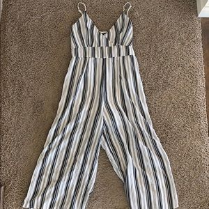 Stripped Kendall and Kylie jumpsuit
